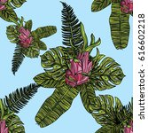 seamless pattern with... | Shutterstock .eps vector #616602218