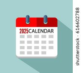 calendar 2025 vector eps 10 | Shutterstock .eps vector #616602788