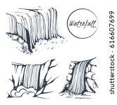vector set of hand drawn... | Shutterstock .eps vector #616607699