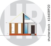 image of the house before... | Shutterstock . vector #616608920