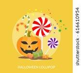 halloween lollipop conceptual... | Shutterstock .eps vector #616610954