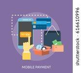 mobile payment conceptual design | Shutterstock .eps vector #616610996
