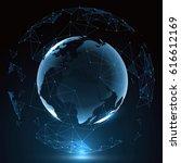 futuristic globalization... | Shutterstock .eps vector #616612169
