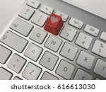 two and red key on keyboard | Shutterstock . vector #616613030
