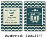 dad happy birthday card set  i... | Shutterstock .eps vector #616615844