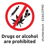 drugs or alcohol are prohibited ... | Shutterstock .eps vector #616615940