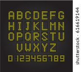 led scoreboard mechanical and...   Shutterstock .eps vector #616619144