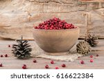 Ripe Wild Cranberries Served I...