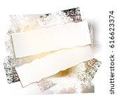 brushstroke and paper on a... | Shutterstock .eps vector #616623374