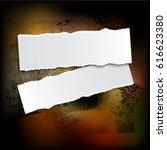 brushstroke and paper on a... | Shutterstock .eps vector #616623380