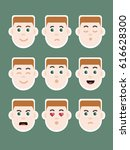 man with ginger hair expressing ... | Shutterstock . vector #616628300