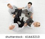 smiling businessteam doing...   Shutterstock . vector #61663213