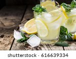 homemade lemonade with fresh... | Shutterstock . vector #616639334