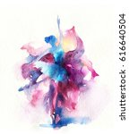 dancing woman and flowers.... | Shutterstock . vector #616640504