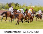 Horses And Riders During...