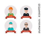 professions people.flat design | Shutterstock . vector #616649510