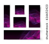 vector abstract banners for... | Shutterstock .eps vector #616652423