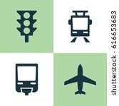 transport icons set. collection ... | Shutterstock .eps vector #616653683
