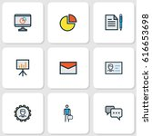 job colorful outline icons set. ... | Shutterstock .eps vector #616653698