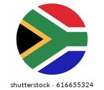 round flag of south africa