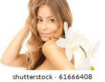 picture of beautiful woman with ... | Shutterstock . vector #61666408