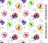 vector illustration seamless... | Shutterstock .eps vector #616666220