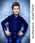 kid's fashion. happy child boy...   Shutterstock . vector #616673654