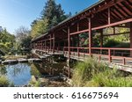 japanese inspired structure on... | Shutterstock . vector #616675694