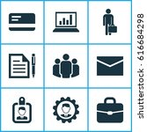 job icons set. collection of... | Shutterstock .eps vector #616684298