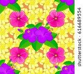 exquisite pattern with hibiscus ... | Shutterstock . vector #616689554