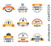 international labor day may 1st ... | Shutterstock .eps vector #616692524