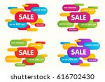 set of colorful horizontal sale ... | Shutterstock .eps vector #616702430