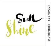 spring lettering phrases | Shutterstock .eps vector #616709324