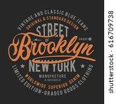 denim brooklyn typography  tee... | Shutterstock .eps vector #616709738