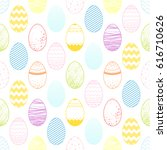 seamless pattern.pattern with... | Shutterstock .eps vector #616710626