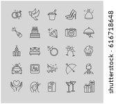 outline icons   wedding  love... | Shutterstock .eps vector #616718648