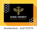 abstract bee   logo  icon ... | Shutterstock .eps vector #616722974