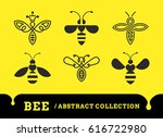 bee abstract collections   logo ... | Shutterstock .eps vector #616722980