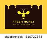 abstract bee   logo  icon ... | Shutterstock .eps vector #616722998