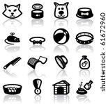 Stock vector pets domestic animals set 61672960