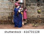 editorial use only. women work... | Shutterstock . vector #616731128