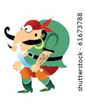 pirate | Shutterstock .eps vector #61673788
