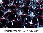red wine in glasses. shallow... | Shutterstock . vector #616737989