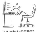 cartoon vector doodle stick man ... | Shutterstock .eps vector #616740326