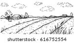 vector hand drawn illustration... | Shutterstock .eps vector #616752554