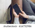 man with smartphone | Shutterstock . vector #616752986