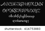 handwritten font   vector  ... | Shutterstock .eps vector #616753883