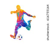 ball  soccer  player | Shutterstock .eps vector #616755164