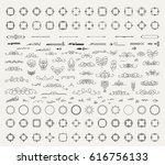 huge rosette wicker border...   Shutterstock .eps vector #616756133