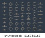 vintage decor elements and... | Shutterstock .eps vector #616756163
